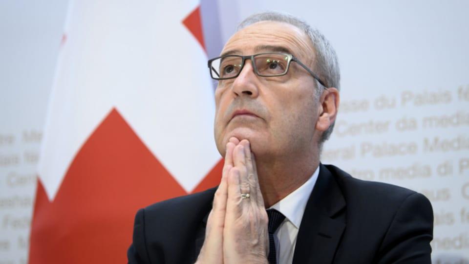 Eingebung von oben? Bundespräsident Parmelin trifft am Freitag EU-Kommissionschefin von der Leyen in Brüssel.