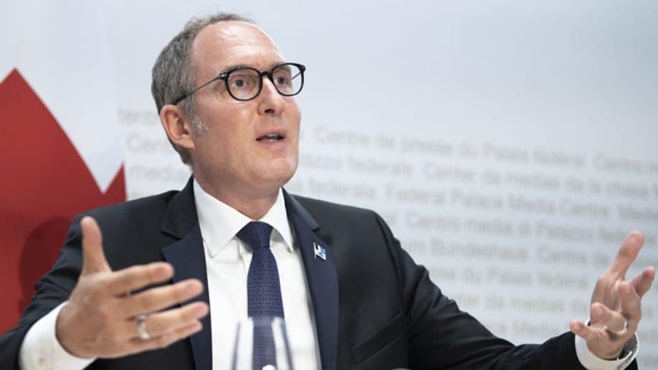 Christian Rathgeb, Regierungsrat des Kantons Graubünden und Präsident der Konferenz der Kantonsregierungen.