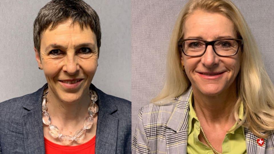 Barbara Gysi (SP) und Therese Schläpfer (SVP) sind Gast im Sessionstalk «Politikum».