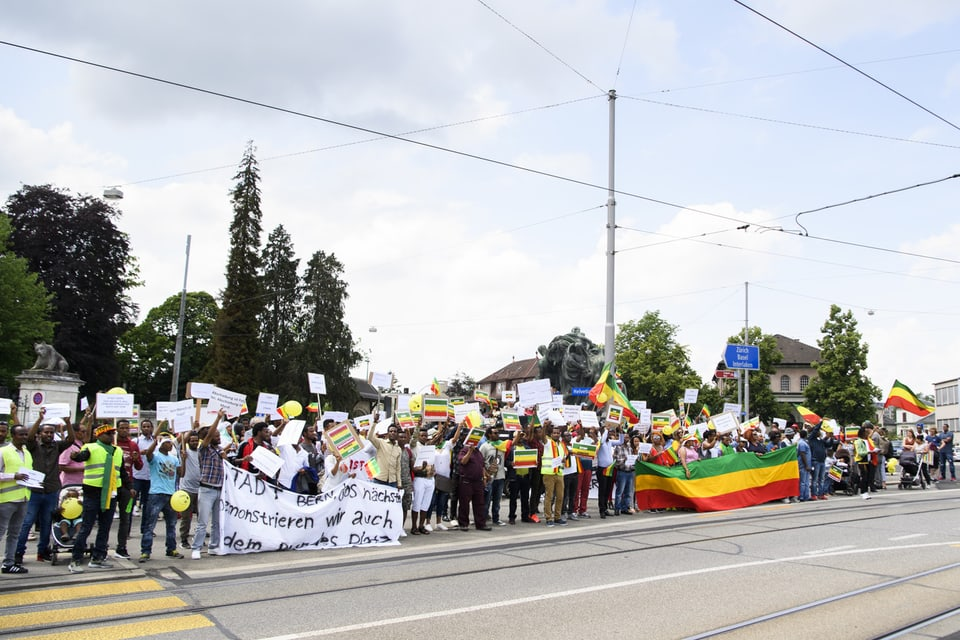 Demonstration gegen Ausschaffungen im Juni 2018 in Bern