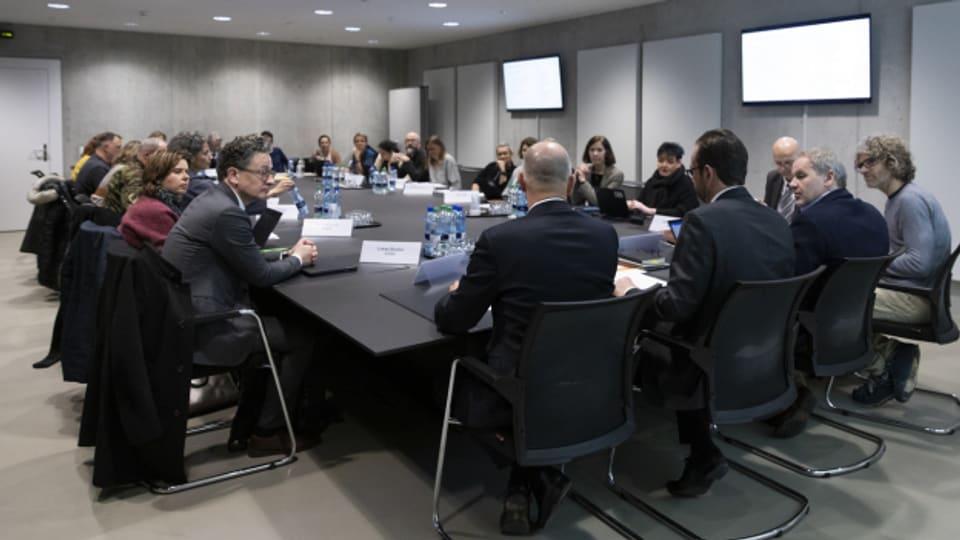 Treffen der Covid-Taskforce des Bundes mit Bundesrat Alain Berset im Februar 2020 in Bern.