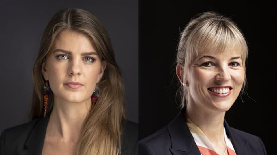 Juso-Präsidentin Ronja Jansen (links) und SVP-Politikerin Diana Gutjahr.