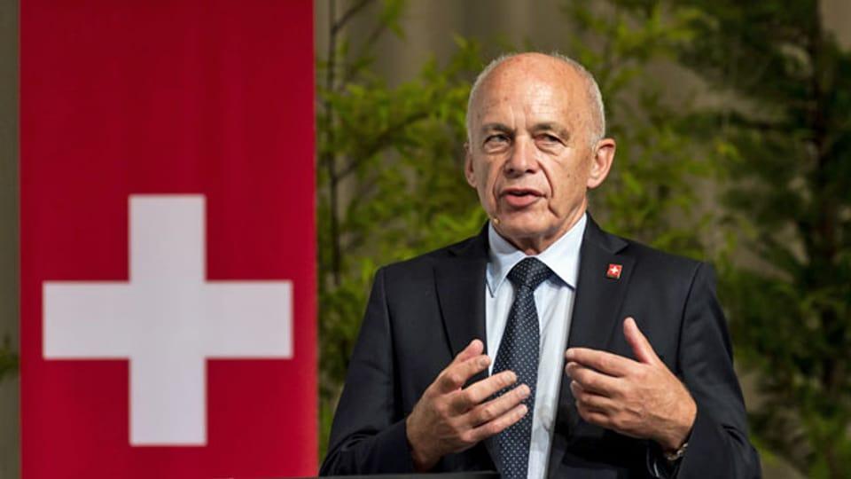 SVP-Bundesrat Ueli Maurer an der SVP-Delegiertenversammlung vom 21. August 2021.