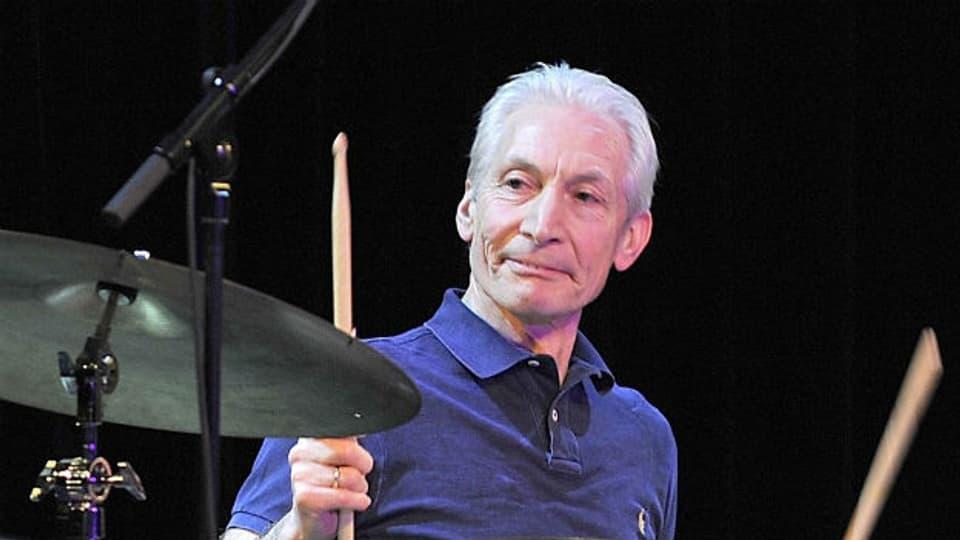 Still und scheu: Charlie Watts, Schlagzeuger der Stones.