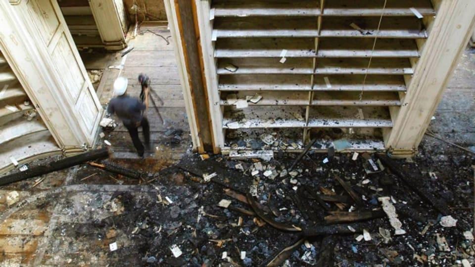 Nach dem Brand in der Anna-Amalia-Bibliothek