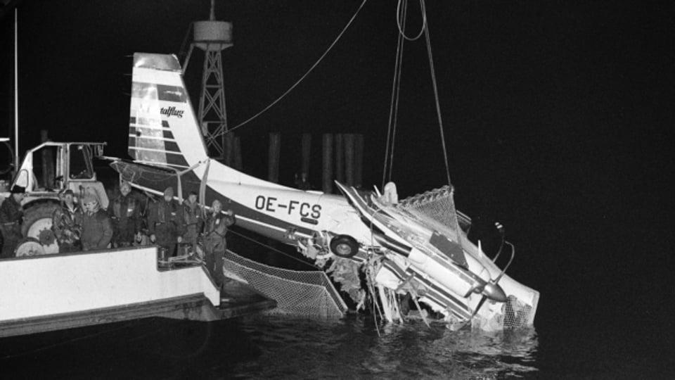 Am 23. Februar 1989 sterben 11 Menschen bei einem Flugzeugabsturz über dem Bodensee