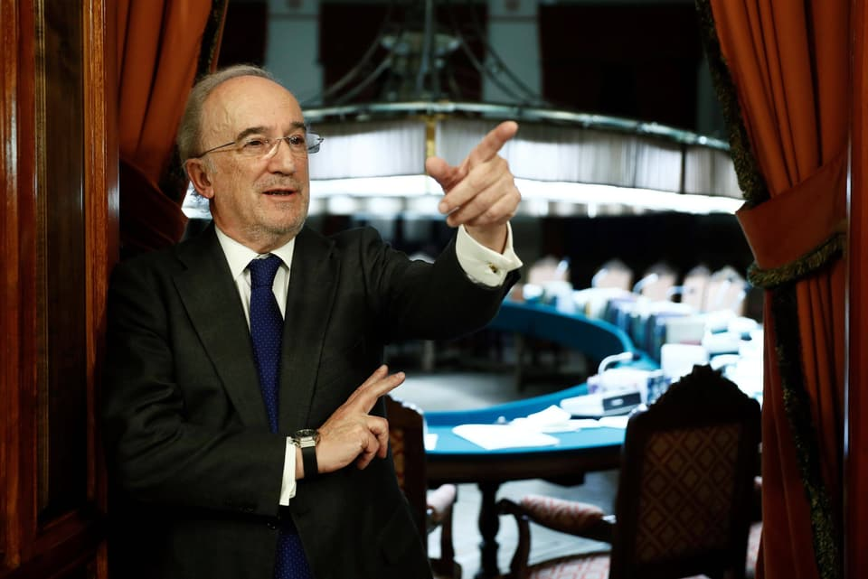 Santiago Muñoz Machado 2018 bei seiner Wahl zum Präsidenten der Real Academia Española, der Königlichen Spanische Akademie für Sprache