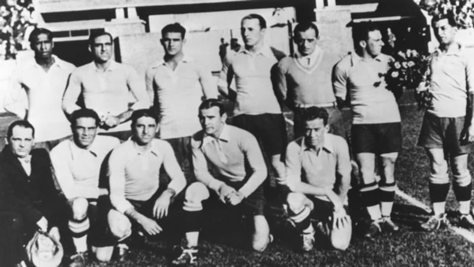 Die Weltmeister-Mannschaft 1930 aus Uruguay