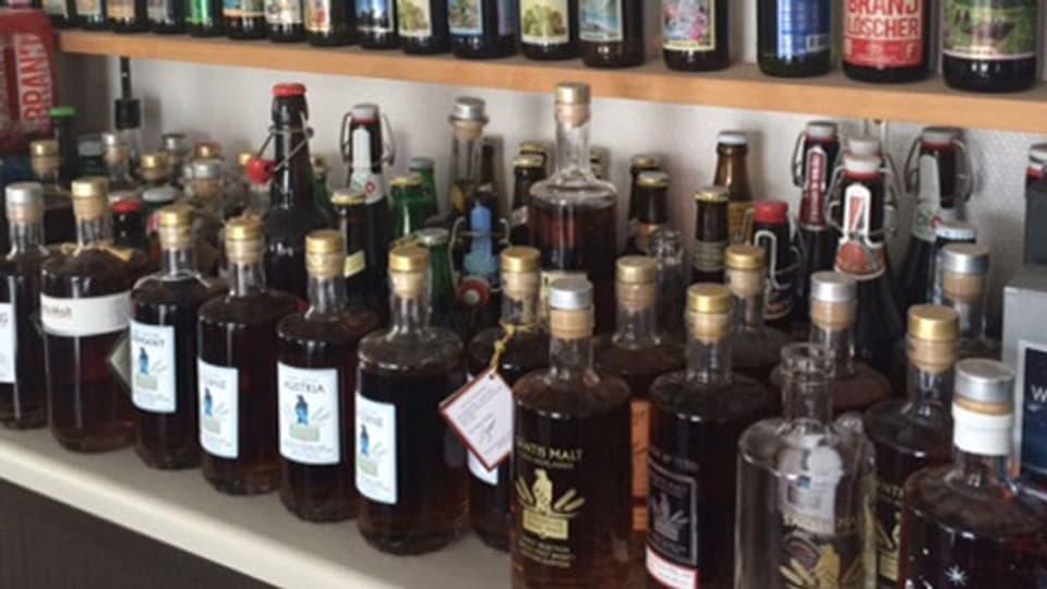 Schweizer Whisky im Angebot.