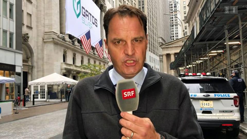 Der Börsenexperte Jens Korte in der Wall Street in New York.