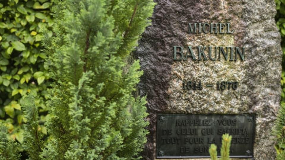 Bakunins Grab auf dem Bremgartenfriedhof in Bern.