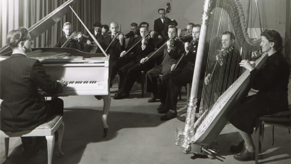 Toni Leutwiler und sein Streichorchester, Radio Bern, 1946-1956.