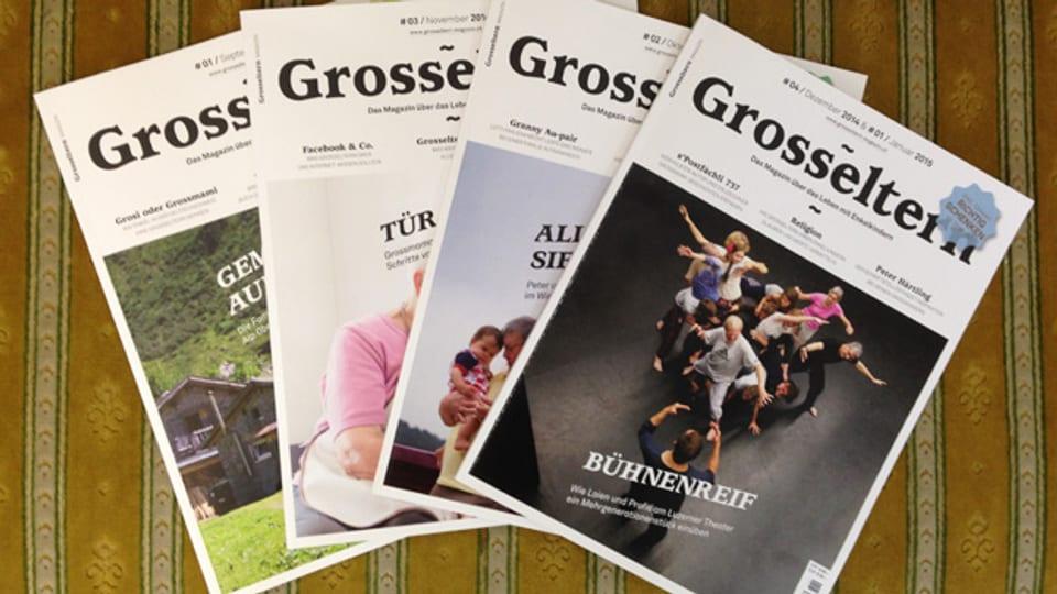 Die ersten paar Ausgaben der Zeitschrift «Grosseltern».