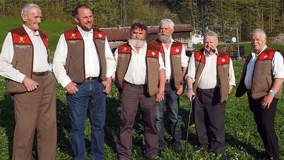 Muotathaler Wetterschmöcker: Peter Suter, Roman Ulrich, Karl Hediger, Martin Holdener, Martin Horat und Alois Holdener.