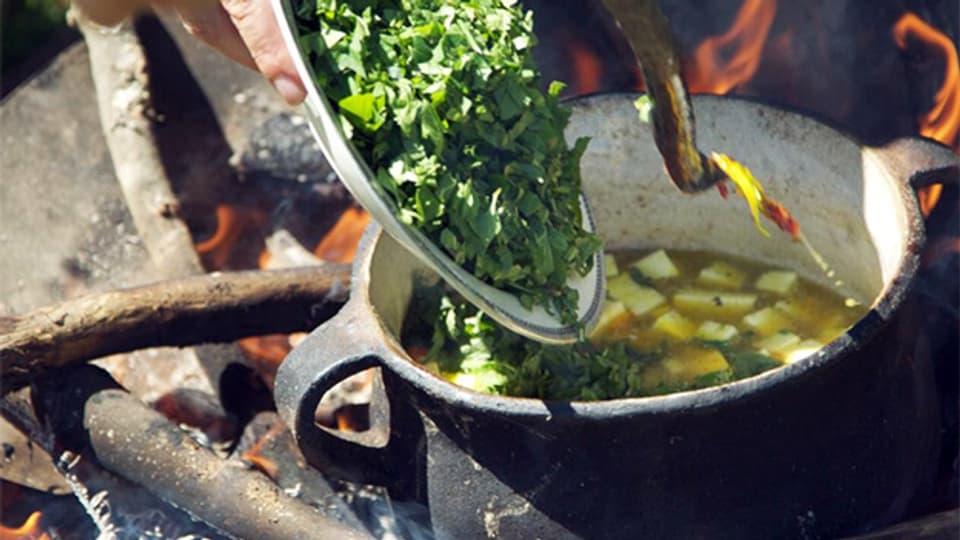 Ein «Kochkurs mit Wildkräutern» ist eines von vielen inspirierenden Geschenken für Menschen ohne materiellen Wünsche.