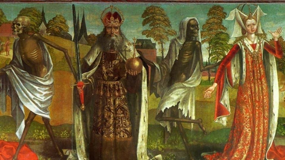Ausschnitt eines Wandgemäldes der Nikolaikirche in Tallin.