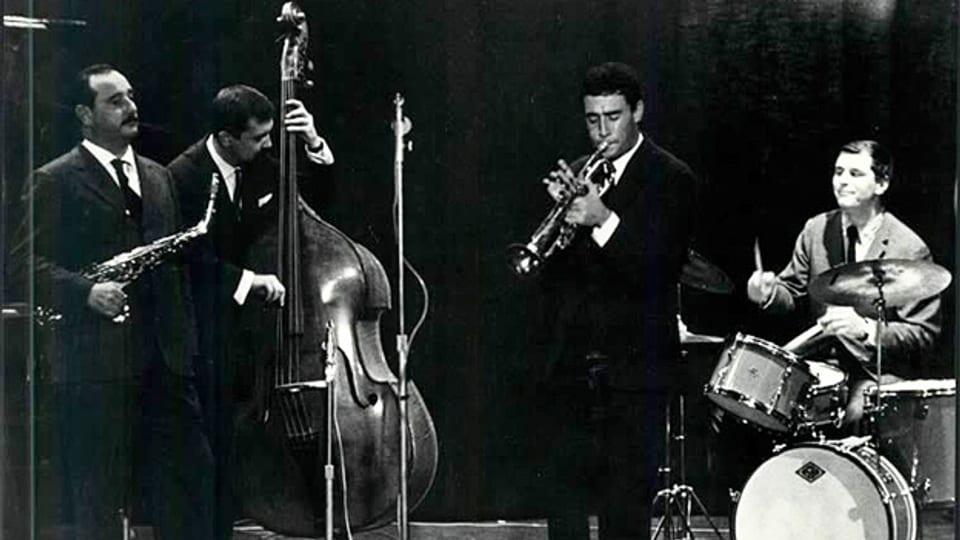 Das Flavio Ambrosetti Quintet mit Flavio Ambrosetti, Franco Ambrosetti, George Gruntz, Gilbert Rovère und Daniel Humair.