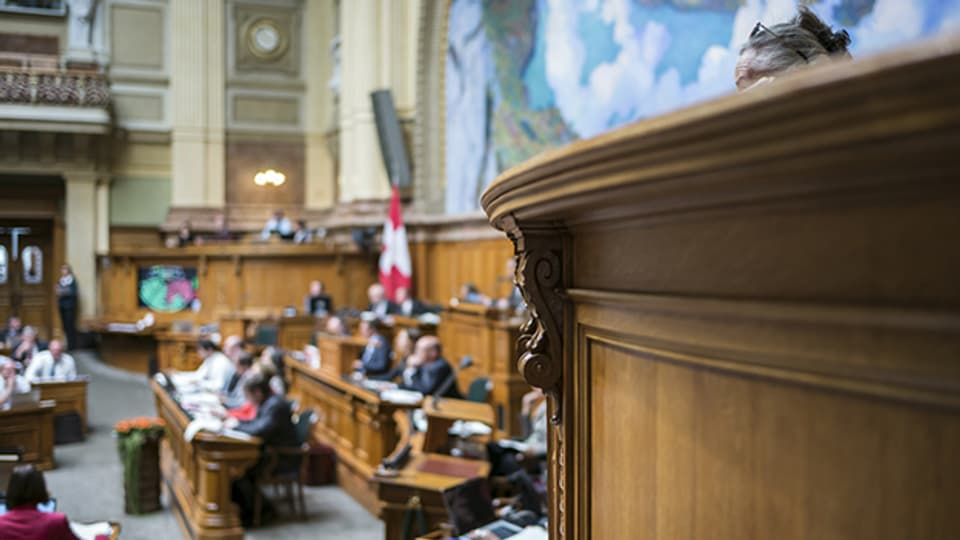 Der Nationalrat tagt während der Herbstsession 2015.