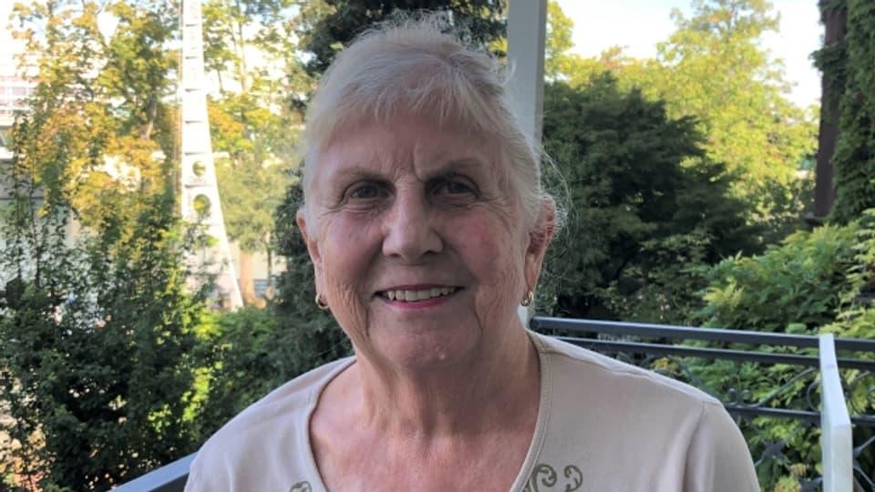 Die 80-jährige Edith Schweizer lebt heute direkt am Rhein.
