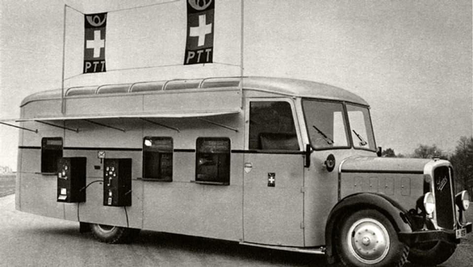 Das mobile Postbüro war in den 1930er-Jahren topmodern.
