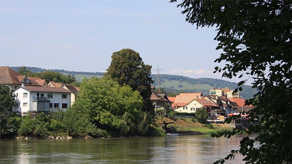 Die Ortschaft Stilli liegt an einem besonders langsam fliessenden Abschnitt der Aare.
