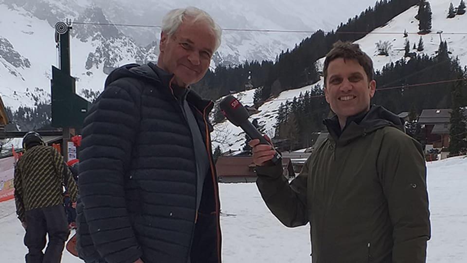Bernard Lunn erzählt Roman Portmann von seinem berühmten Vater Sir Arnold Lunn, der als Pionier des alpinen Skirennsports gilt.