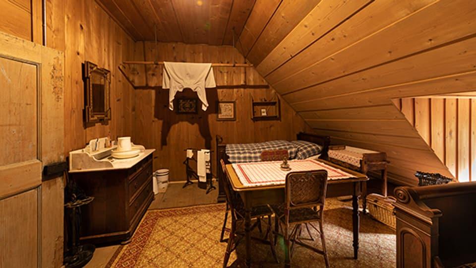Wohnung von von Lina Beck in der Mansarde bis 1953, Rekonstitution
