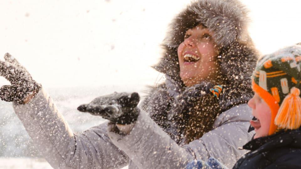 Winterliche Schneefreuden.