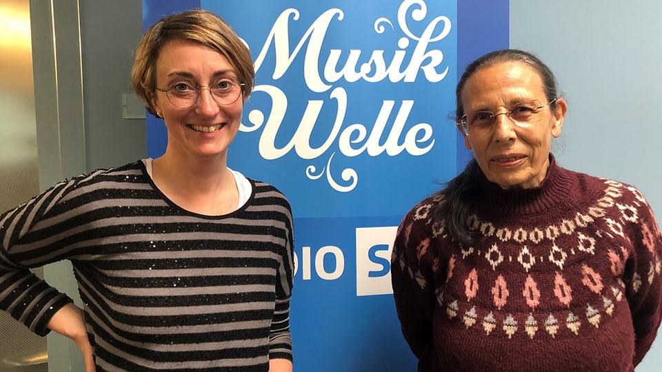Silvia Delorenzi-Schenkel (r.) zu Gast bei Renate Anderegg