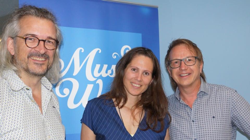 Eveline Hari und Willy Vogel alias Willy Tell sind Gäste bei Dani Häusler im «SRF Musikwelle Brunch».