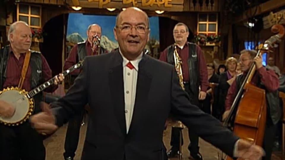 Sepp Trütsch und die Harlem Ramblers im Januar 2009 in der Sendung «Hopp de Bäse!».