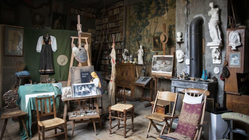 Albert Ankers Atelier in seinem Geburts- und Wohnhaus in Ins.