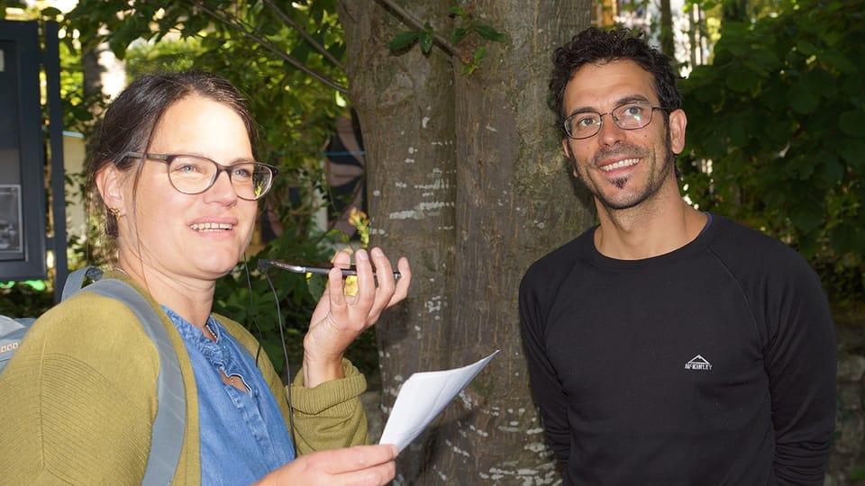 Beim Lilienhof vom Schlössli Ins trifft Fränzi Haller den Artisten Raffanel Baptiste.
