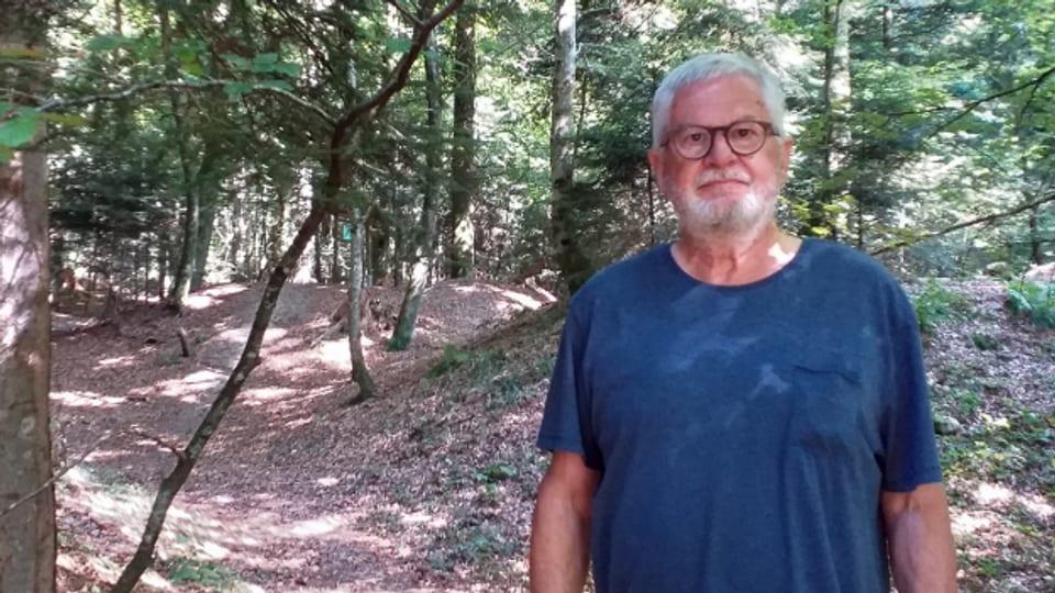Michael Röthlisberger auf dem Weg zur Hasenburg.