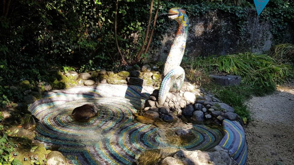 Als ehemaliger Lehrer im Schlössli Ins hat Ueli Seiler mit einer Klasse auch solche Werke im Rosenhof gestaltet.