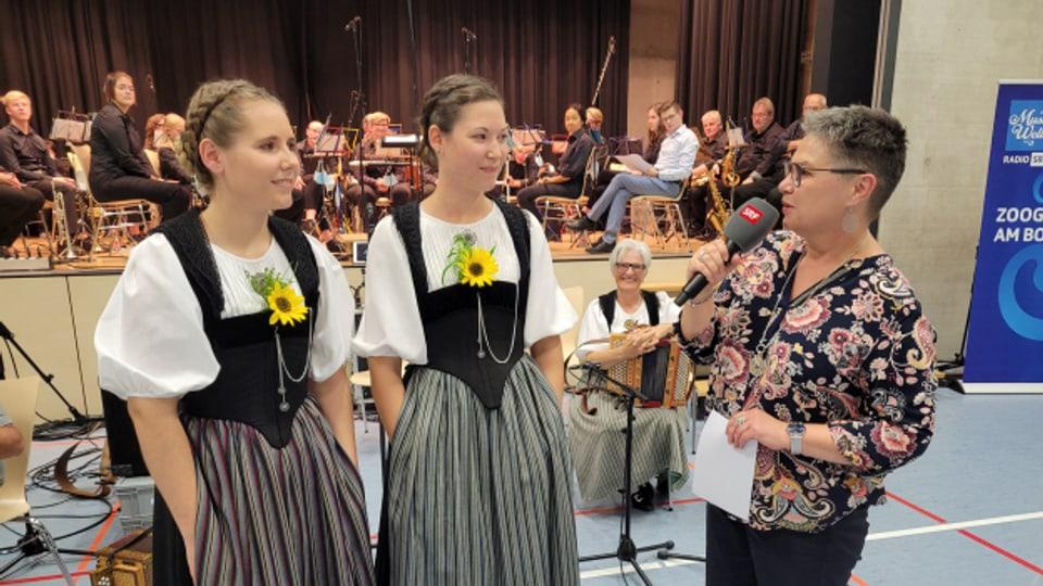 Die beiden Schwestern Gianna und Daria Occhini singen bei «Zoogä-n-am Boogä» auch im Duett.