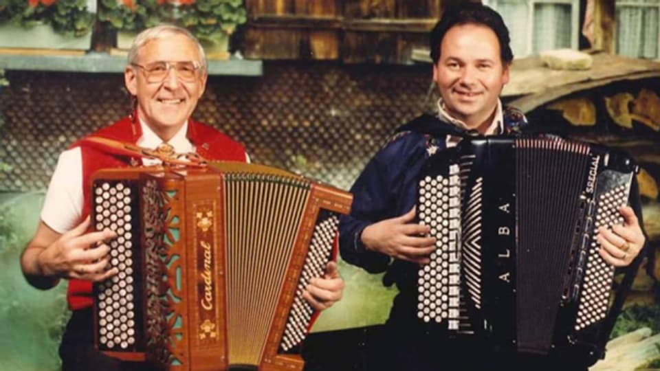 Franz Nauer (r) mit Musikerkollegen Walter Grob.