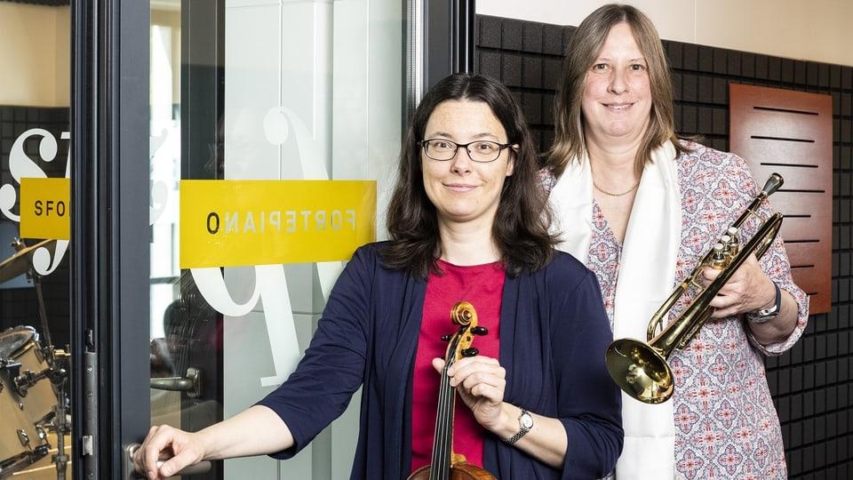 Die «Notenloft»-Gründerinnen Cosima Bigger (links) und Brigitte Nanz sind selber begeisterte Musikantinnen.