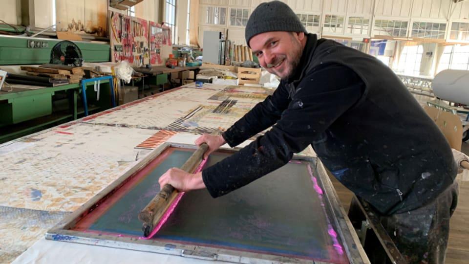 Martin Schlegel arbeitet mit Leidenschaft im alten Saurer Werk.