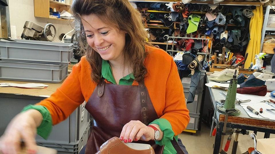 Ena Ringli in ihrer Werkstatt in Weinfelden.