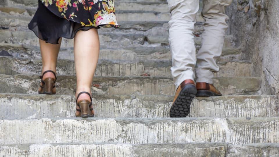 Es ist nie zu spät, um mit Treppensteigen zu beginnen.