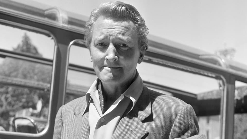 Der Schweizer Musiker und Bandleader Teddy Stauffer (1909-1991) in einem Porträt von 1947 bei seiner Rückkehr aus dem US-Exil.