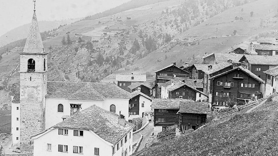 Die Walliser Gemeinde Visperterminen in einer Aufnahme von 1910.