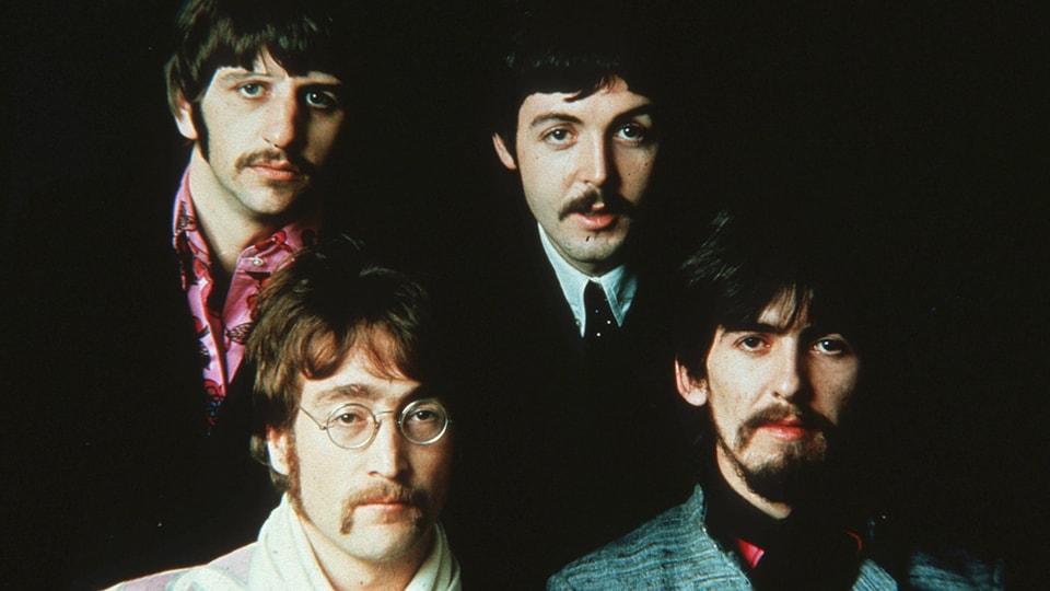 The Beatles: Ringo Starr, John Lennon, Paul Mc Cartney, George Harrison.