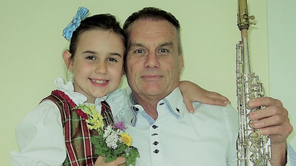 René Hauser mit seiner Tochter.