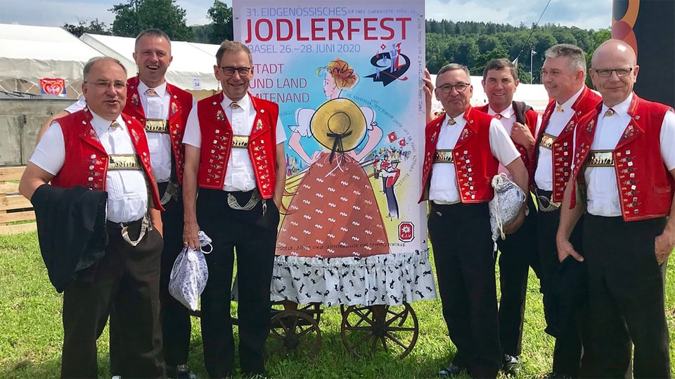 Das Engel Chörli Appenzell wollte sich am Eidgenössischen Jodlerfest vom Publikum verabschieden. Doch ohne Jodlerfest fällt der Abschied nun bescheiden aus.