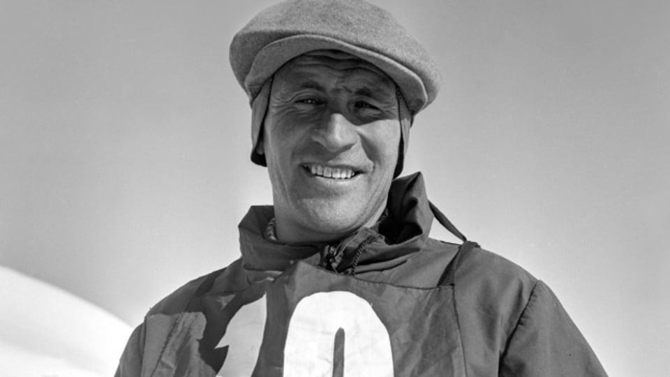 Skirennfahrer David Zogg, aufgenommen um 1935.