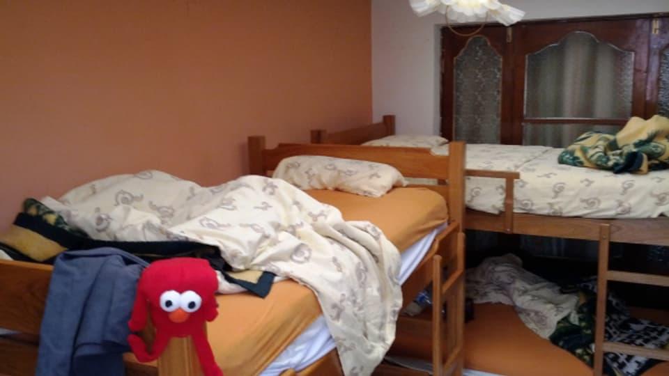 Bettenlager für Kinder.