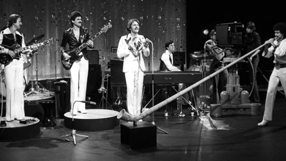 Erfolgreiches Sextett: «Swiss Lady» setzte sich in der Schweizer Vorausscheidung 1977 durch. Am «Concours Eurovision de la Chanson» reichte es immerhin für Platz 6.