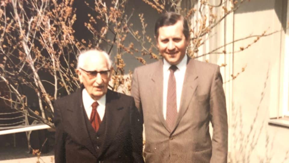 Arnold B. Stampfli mit seinem Vater Arnold Stampfli.